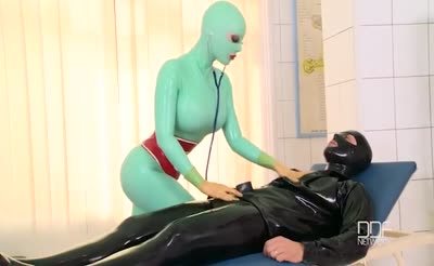 Latex Lucy has fetish sex in hospital