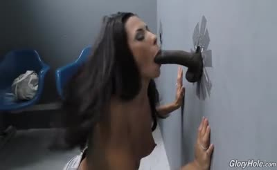 Alexa has some interracial fun in the  Gloryhole