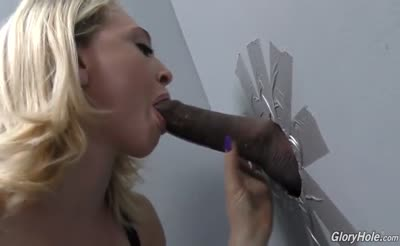 Blonde hottie Sucking and Fucking at Glory hole