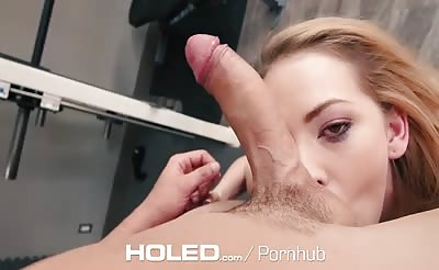 anal workout in the gym with angela smalls